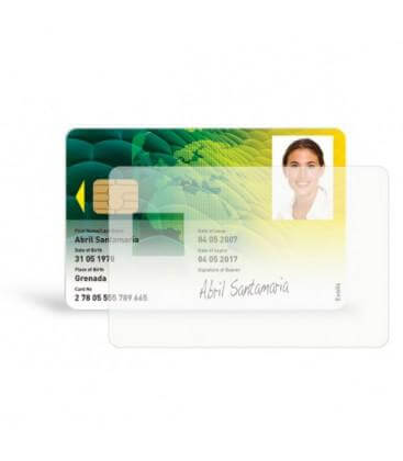 PARCHE TRANSPARENTE SMART CARD 0,5 MIL